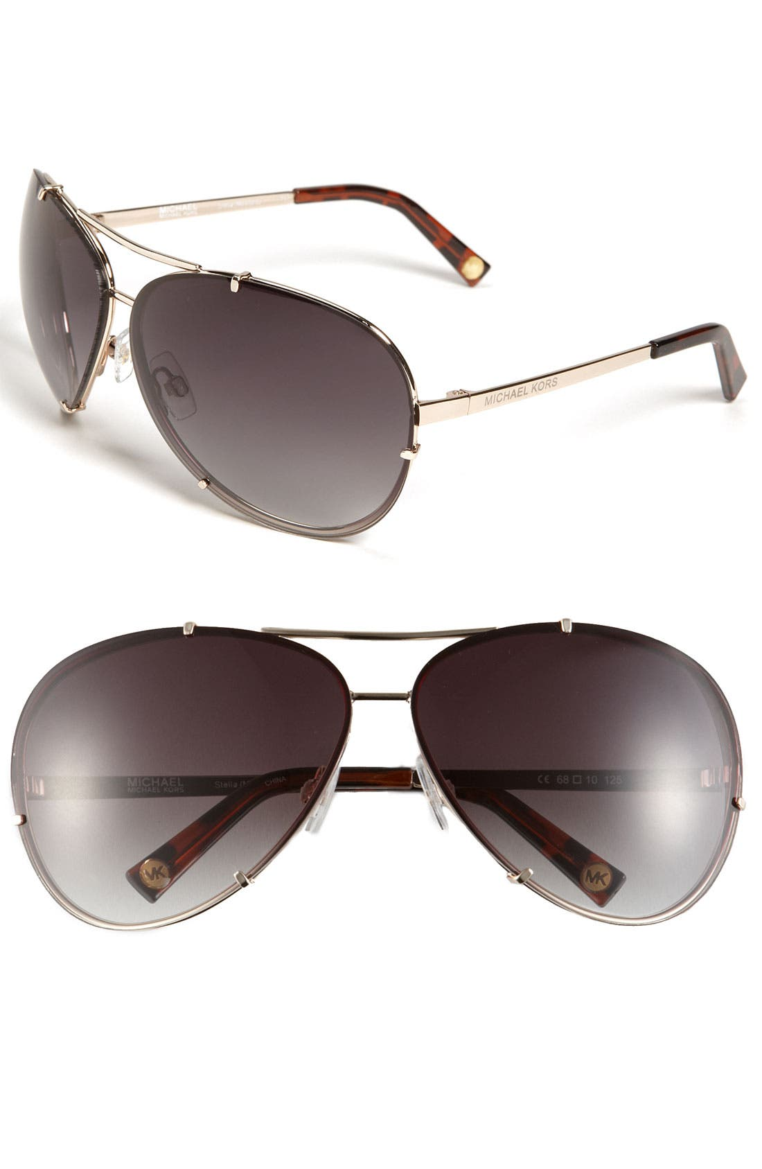 Alternate Image 1 Selected - MICHAEL Michael Kors 'Stella' 68mm Aviator Sunglasses