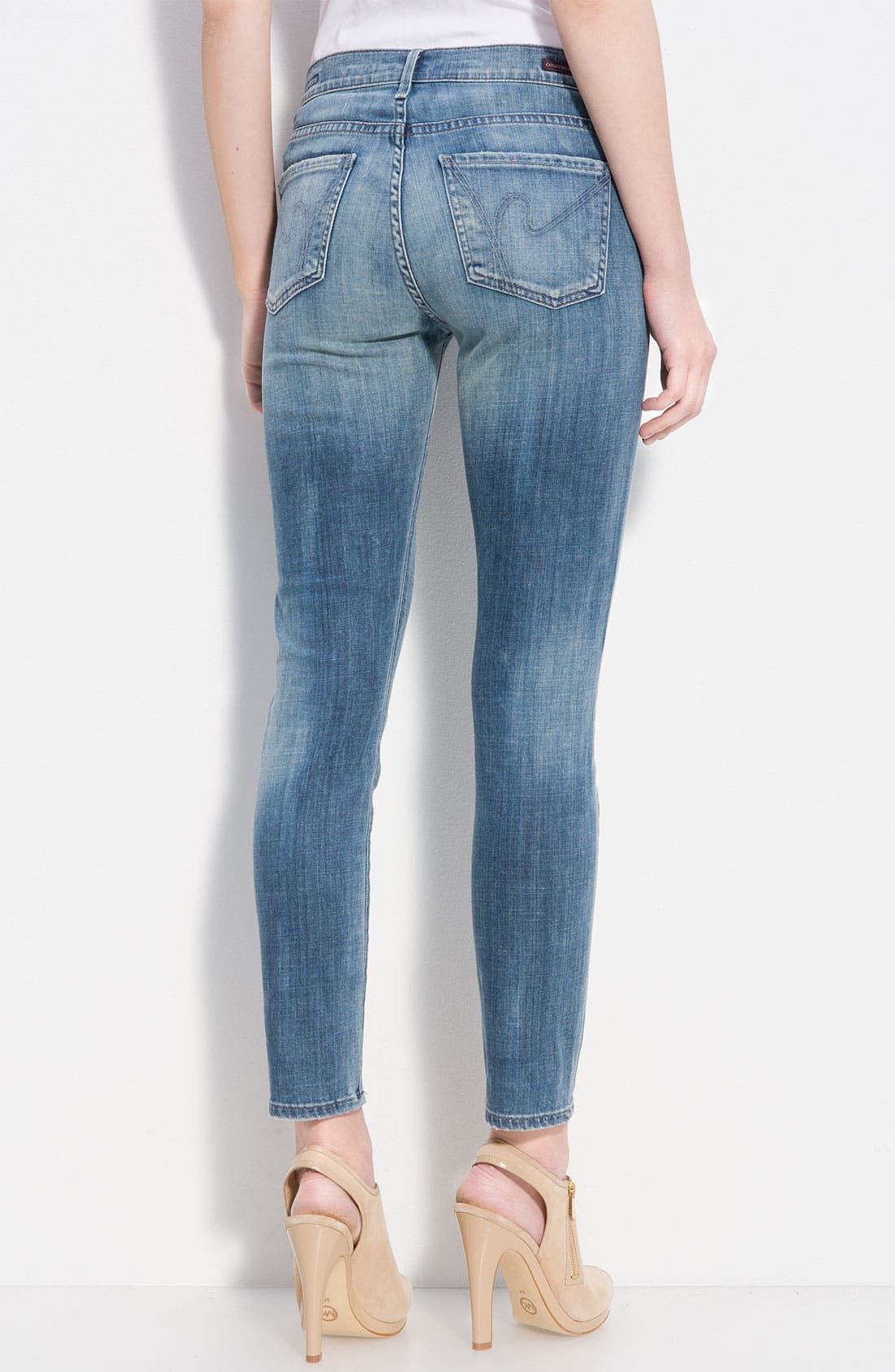 Alternate Image 1 Selected - Citizens of Humanity 'Thompson' Crop Skinny Jeans (True Wash)