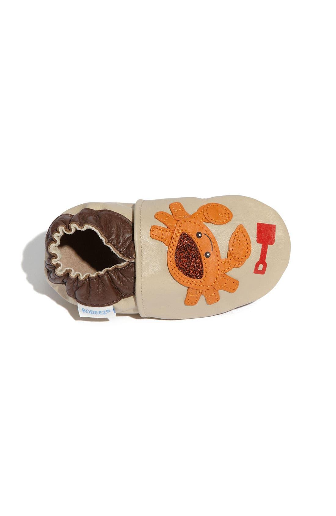 Alternate Image 3  - Robeez® 'Touch & Feel Crab' Slip-On (Baby & Walker)