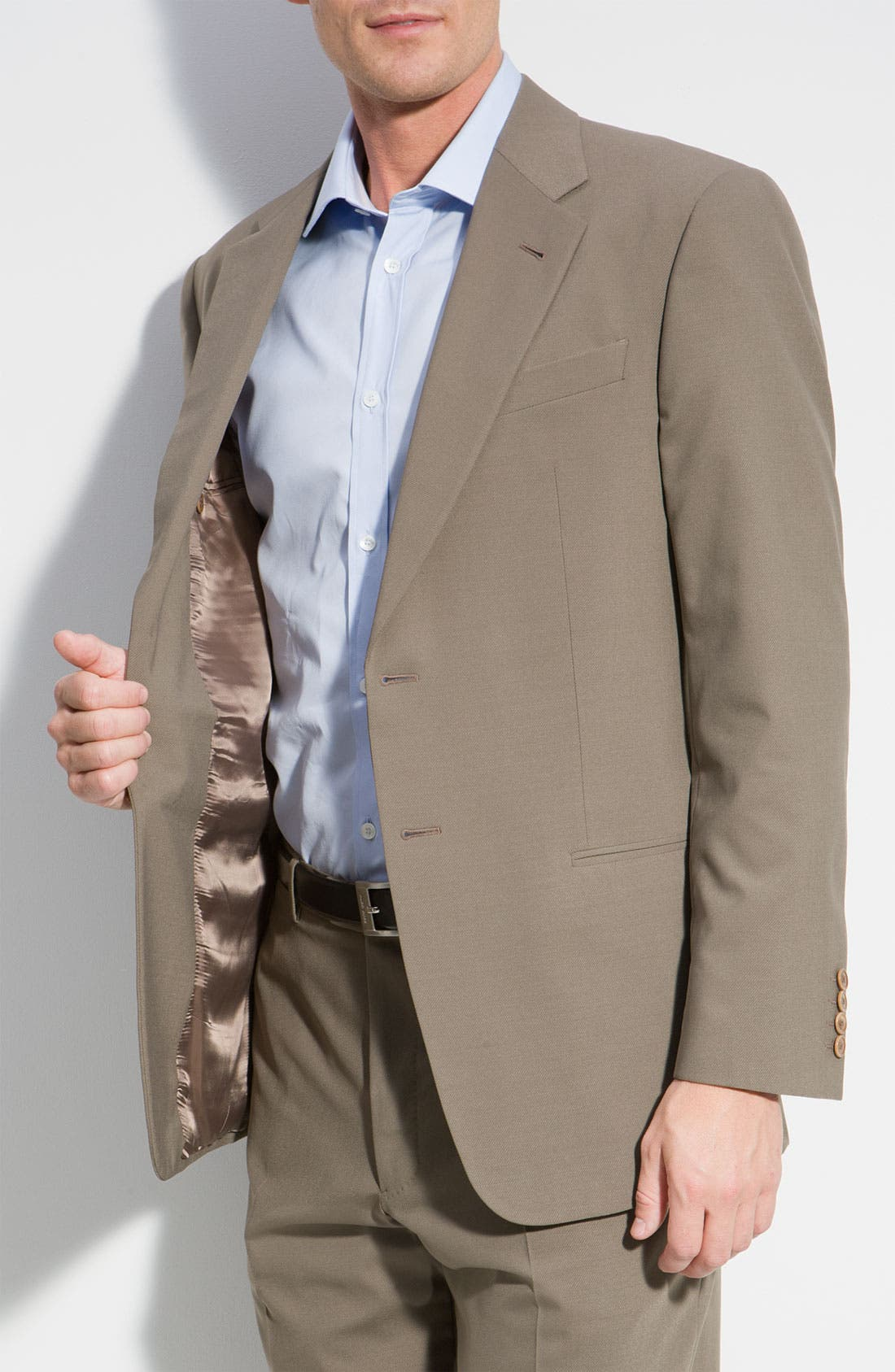 Alternate Image 5  - Armani Collezioni 'Executive' Wool Blend Suit