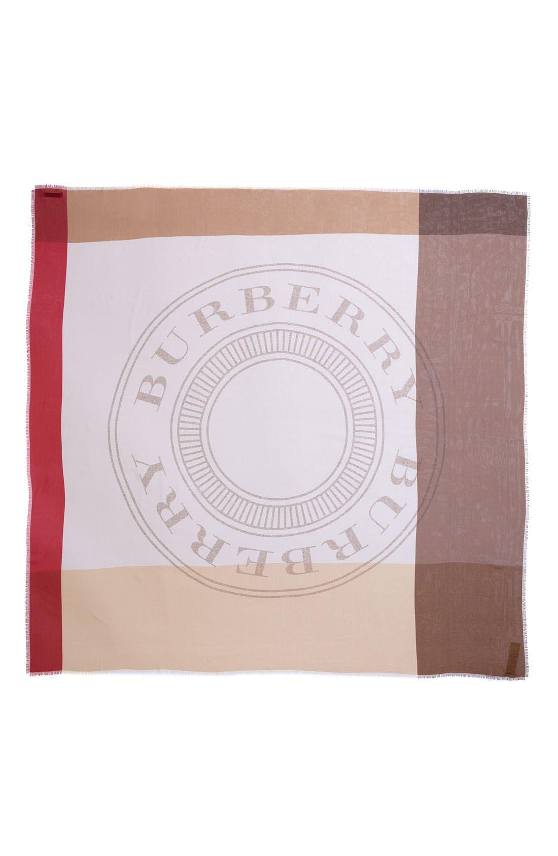 Alternate Image 2  - Burberry Heritage Stamp Silk Scarf
