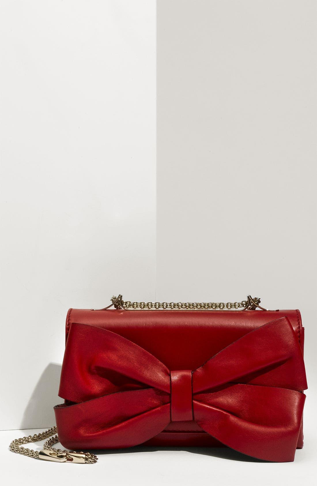 Alternate Image 1 Selected - Valentino 'Bow Flap' Leather Shoulder Bag