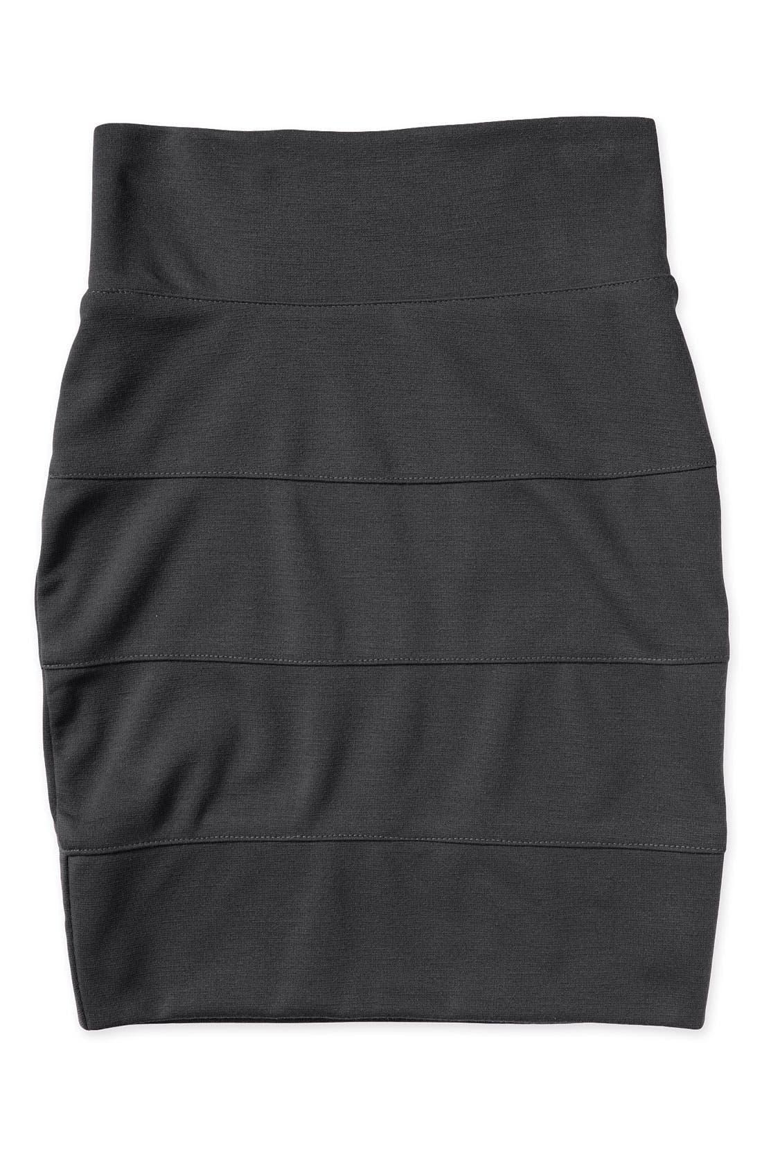 Alternate Image 1 Selected - Un Deux Trois Knit Banded Miniskirt (Big Girls)