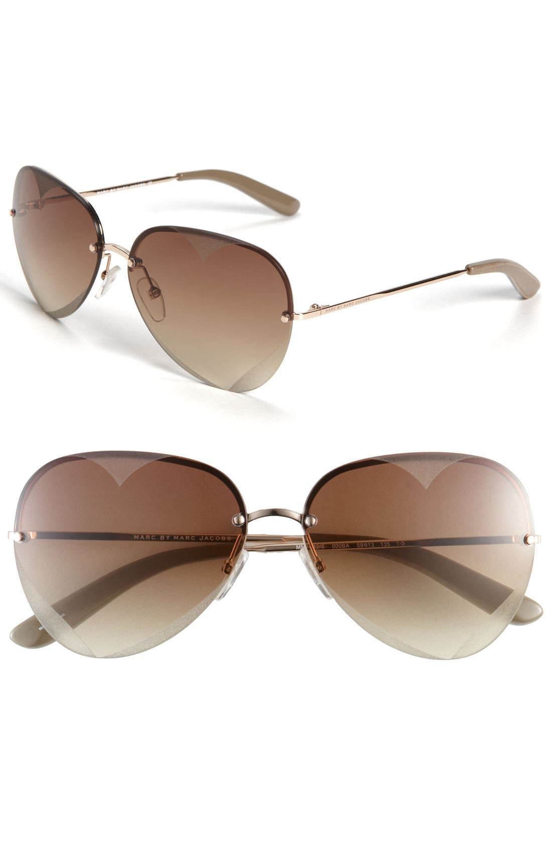 Alternate Image 1 Selected - MARC BY MARC JACOBS Rimless Sunglasses