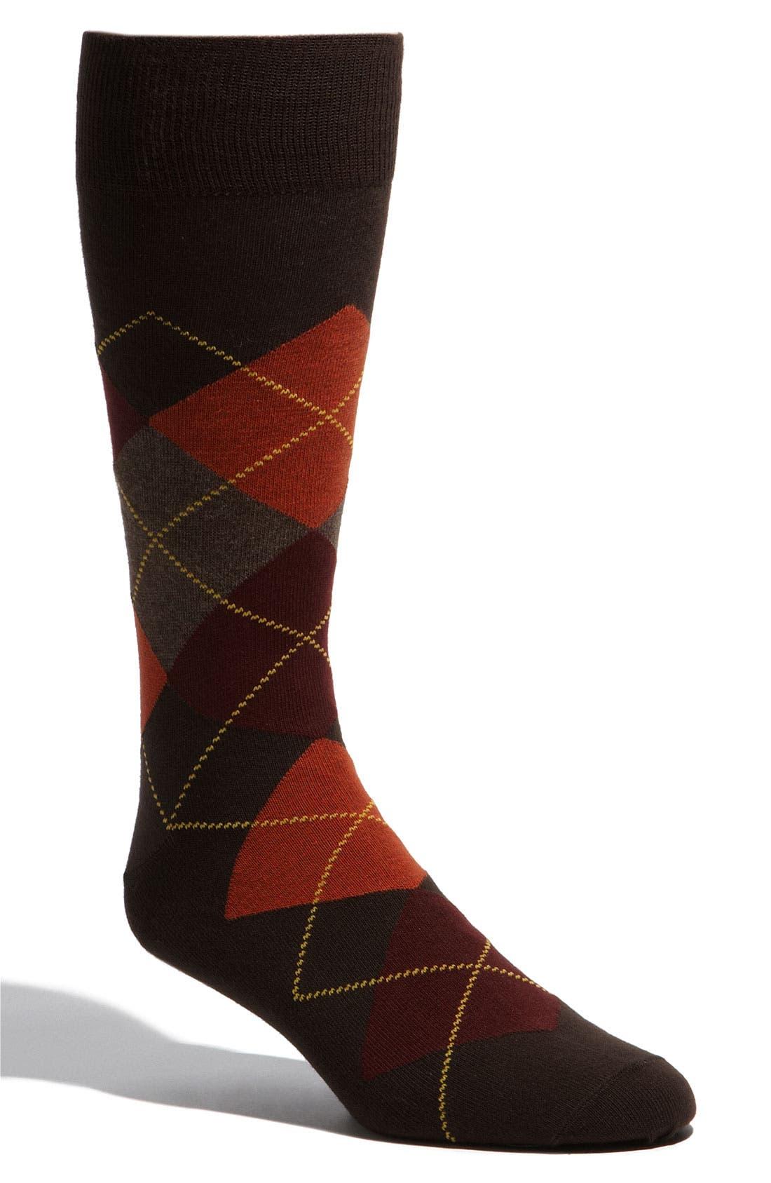 Alternate Image 1 Selected - Lorenzo Uomo 'Rugby Argyle' Socks (3 for $27)