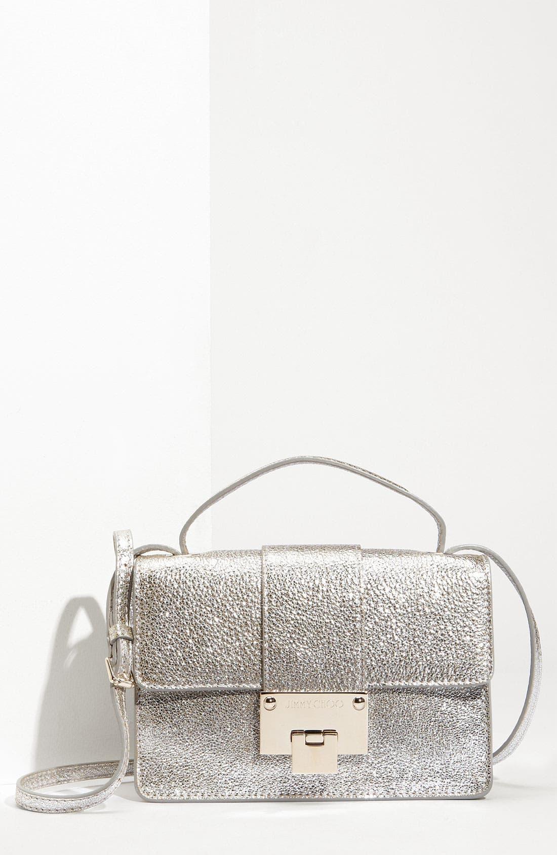 Main Image - Jimmy Choo 'Rebel Mini' Glitter Leather Crossbody Bag