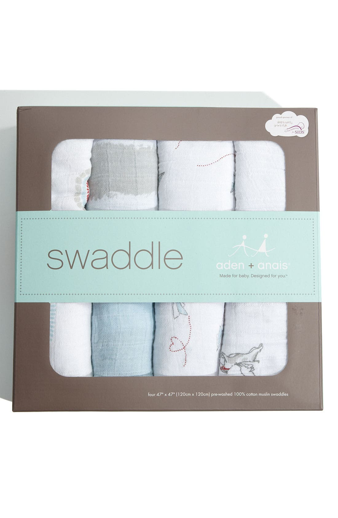 Alternate Image 3  - aden + anais Classic Swaddling Cloths (4-Pack)