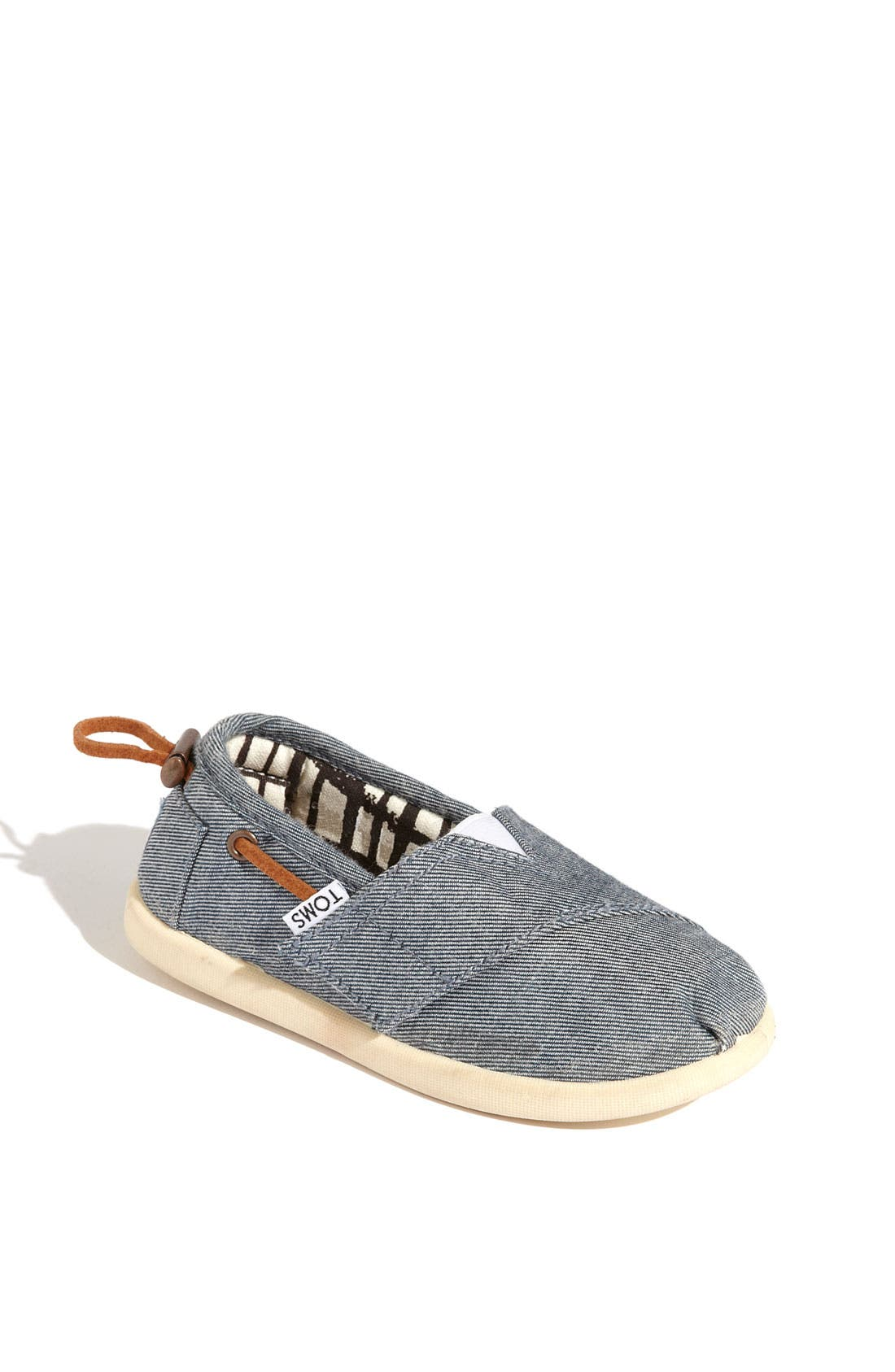 Main Image - TOMS 'Classic Tiny - Bimini' Chambray Slip-On (Baby, Walker & Toddler)