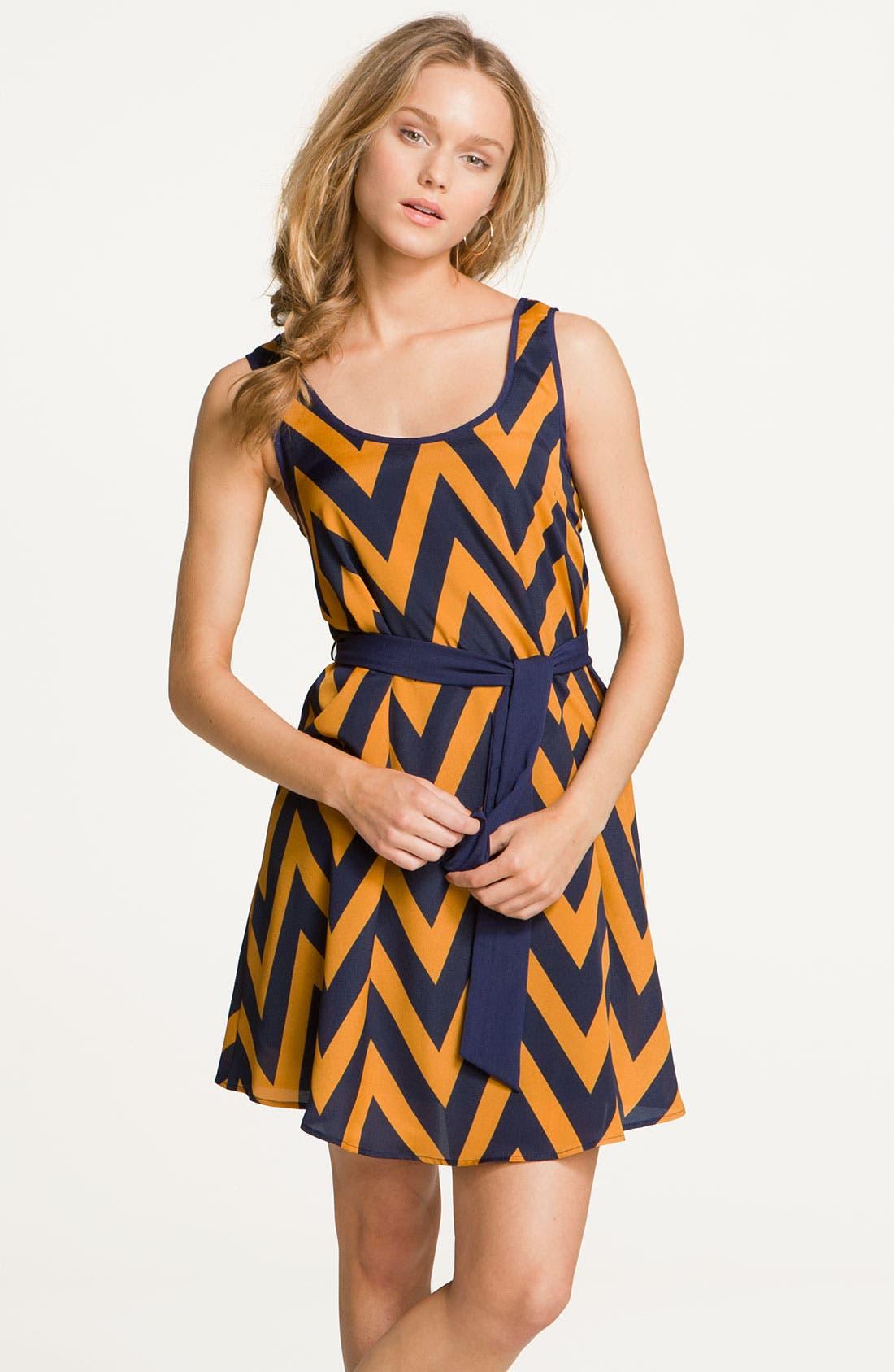 Alternate Image 4  - Lush Zigzag Tank Dress (Juniors)