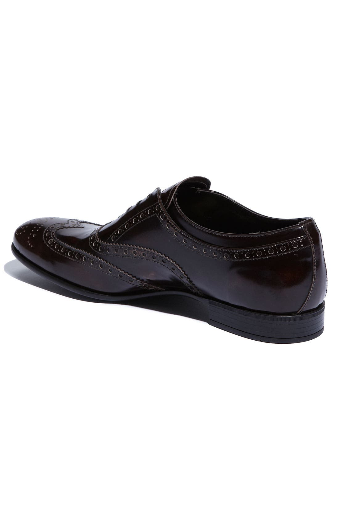 Alternate Image 2  - Prada Laceless Wingtip Oxford