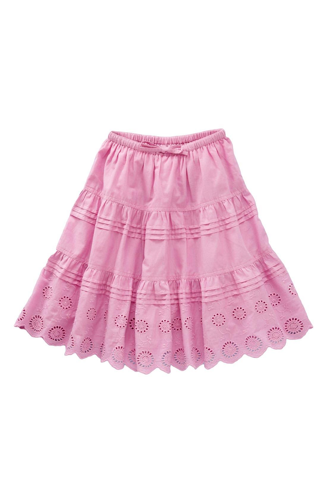 Alternate Image 1 Selected - Mini Boden 'Broiderie Twirly' Skirt (Little Girl & Big Girl)