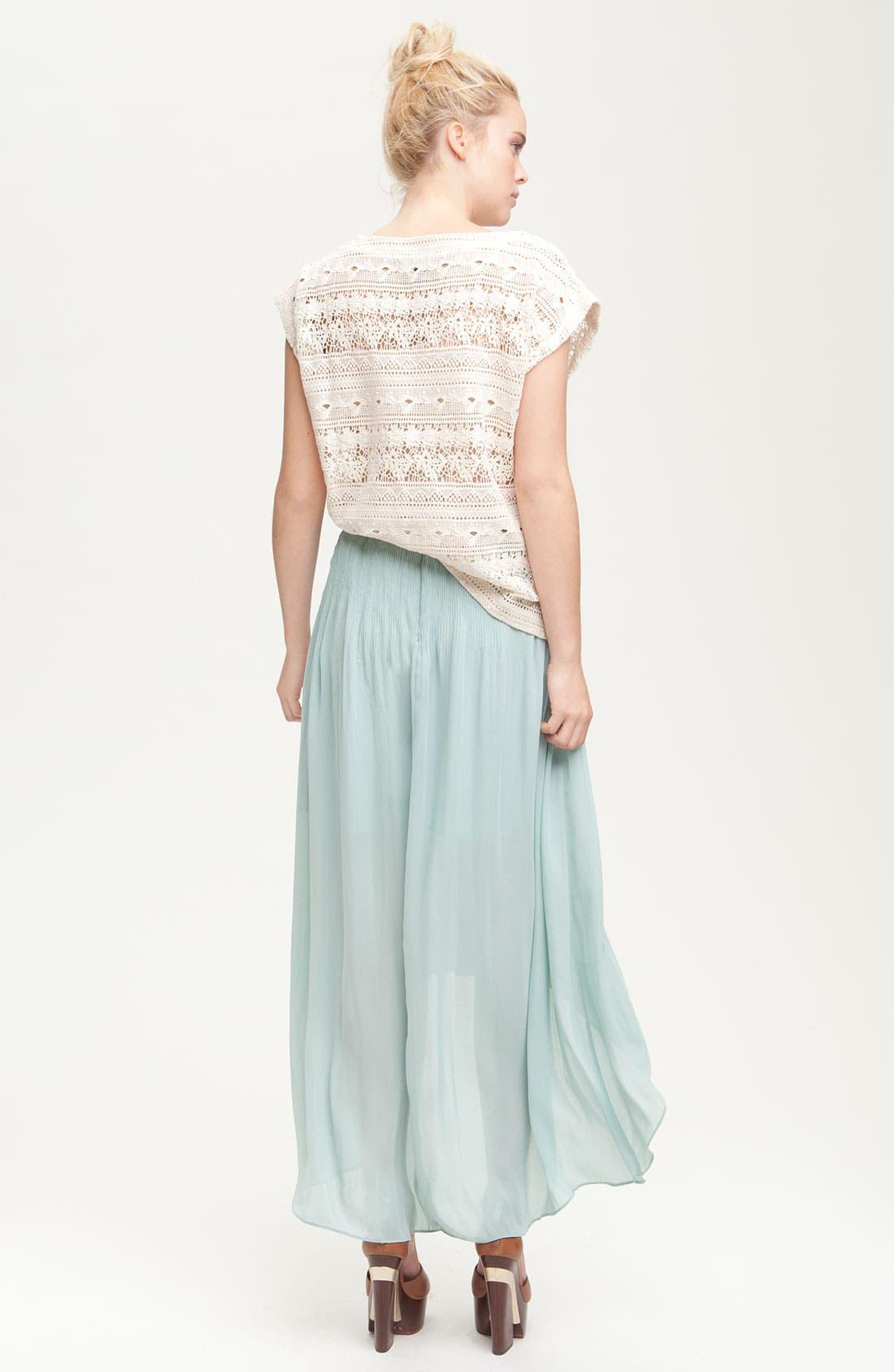 Alternate Image 5  - Sanctuary 'Leotie' Crinkled Asymmetric Maxi Skirt
