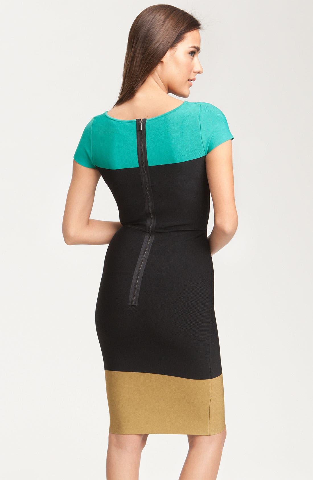Alternate Image 2  - BCBGMAXAZRIA Colorblock Knit Dress