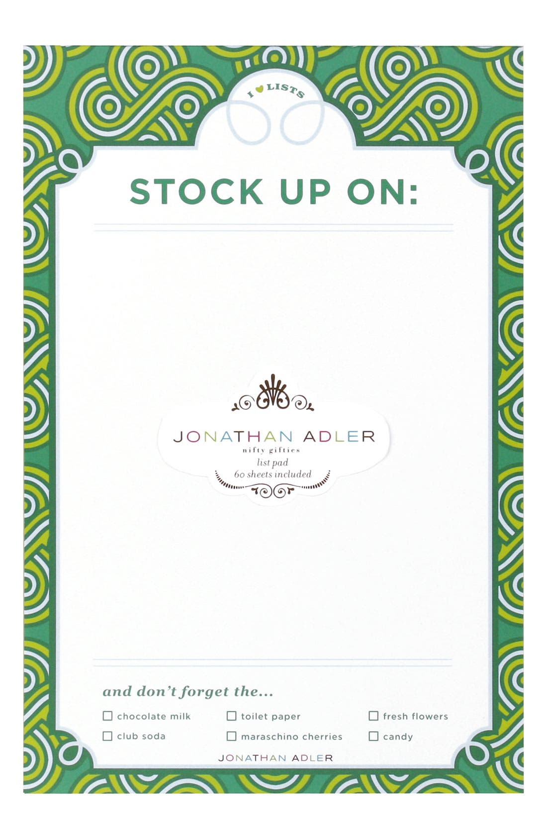 Alternate Image 1 Selected - Jonathan Adler 'Woven Gothic Rose' List Pad