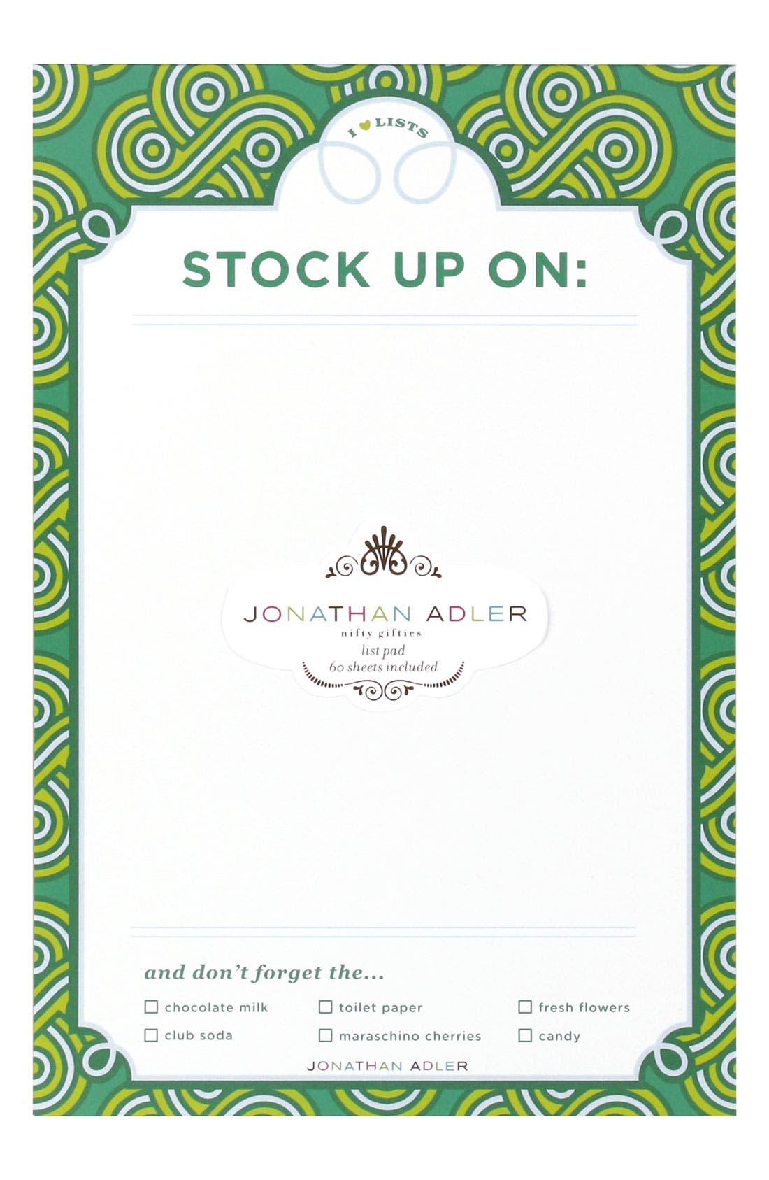 Main Image - Jonathan Adler 'Woven Gothic Rose' List Pad
