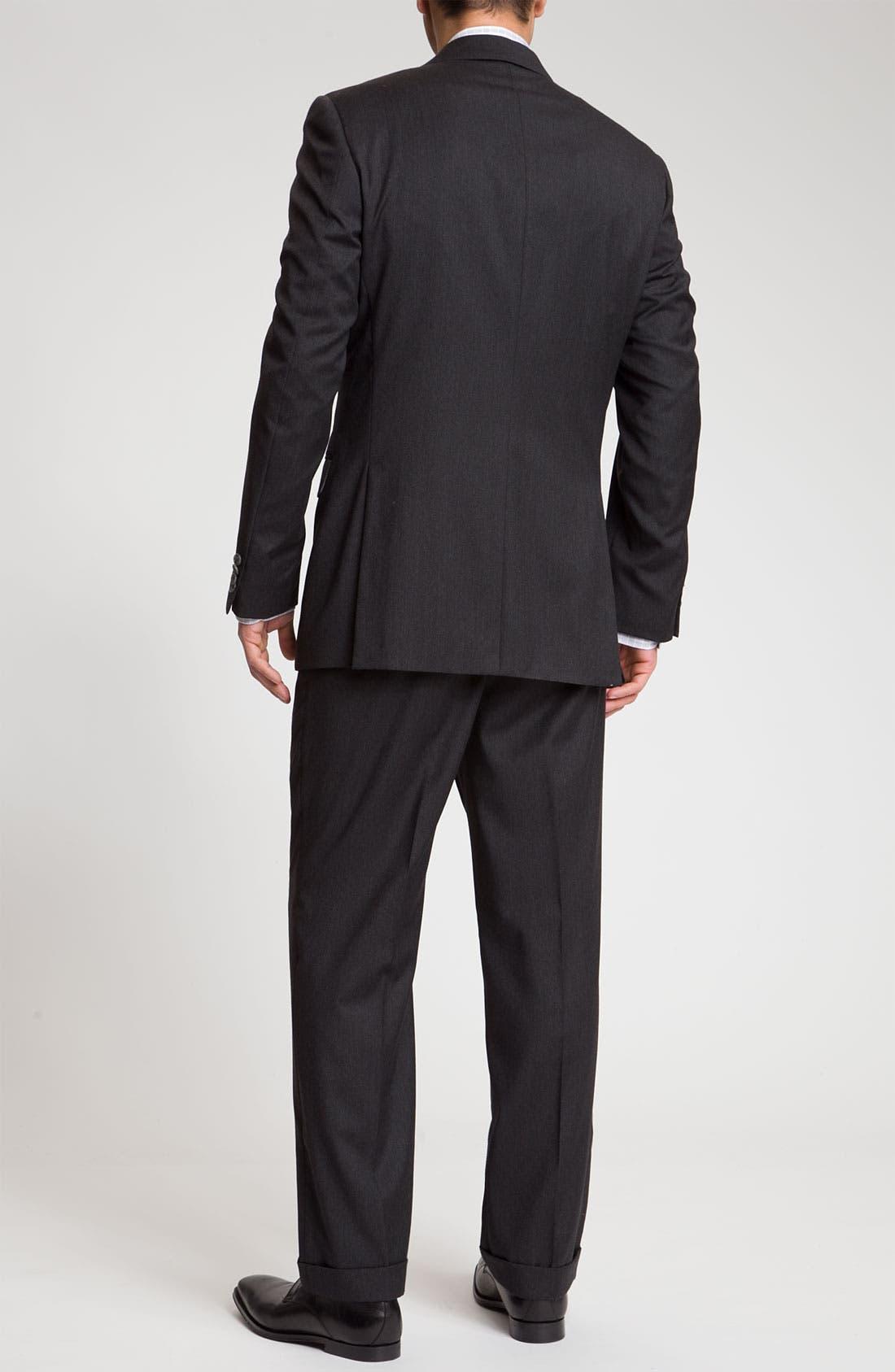 Alternate Image 3  - Joseph Abboud 'Signature Silver' Dark Grey Wool Suit