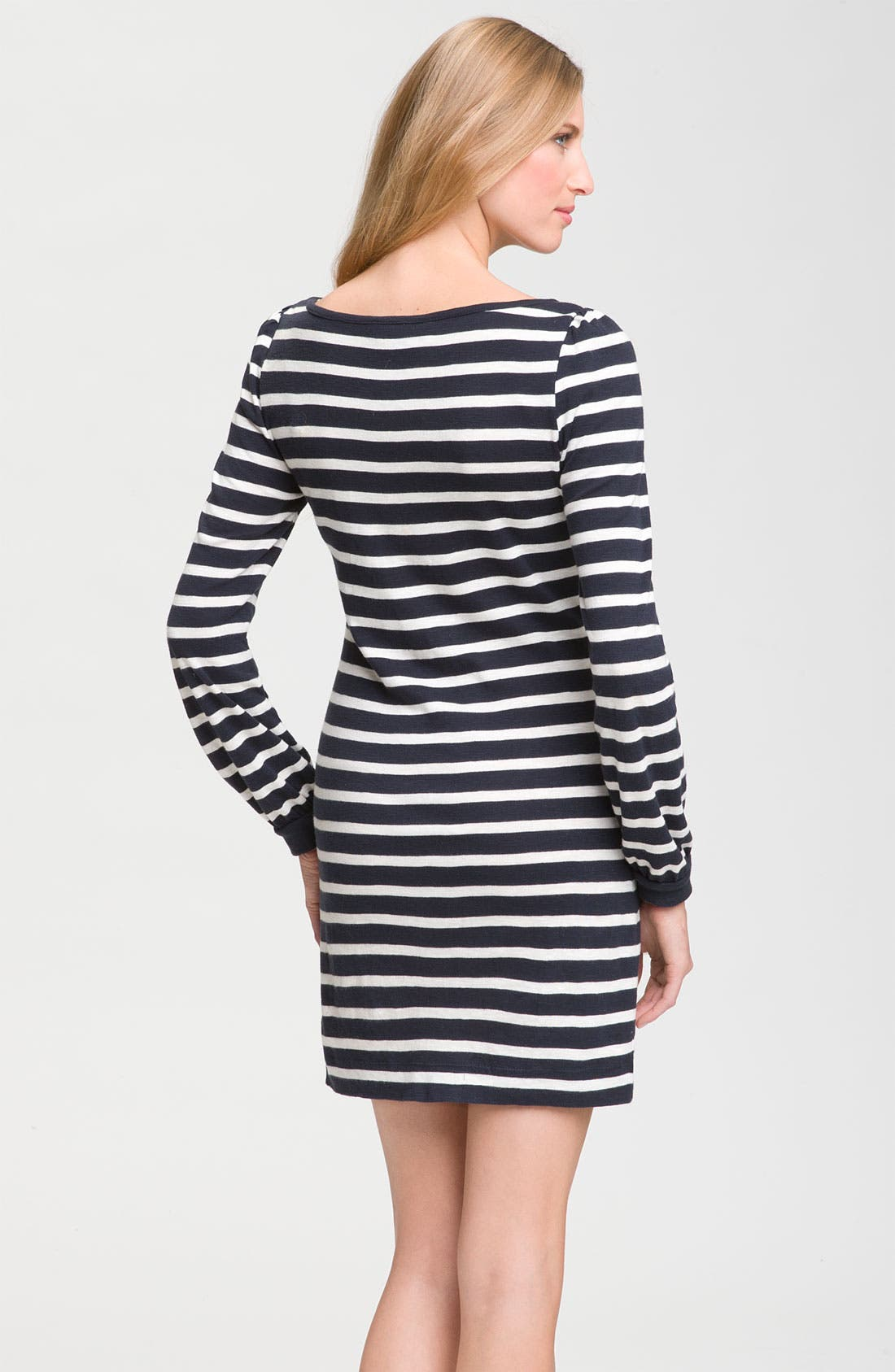 Alternate Image 2  - French Connection Long Sleeve Striped Knit Dress