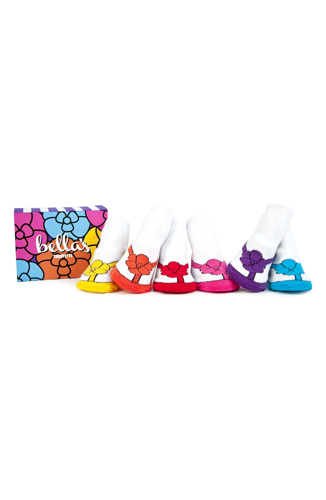 Alternate Image 1 Selected - Trumpette 'Bella's' Socks Gift Set (Baby Girls)
