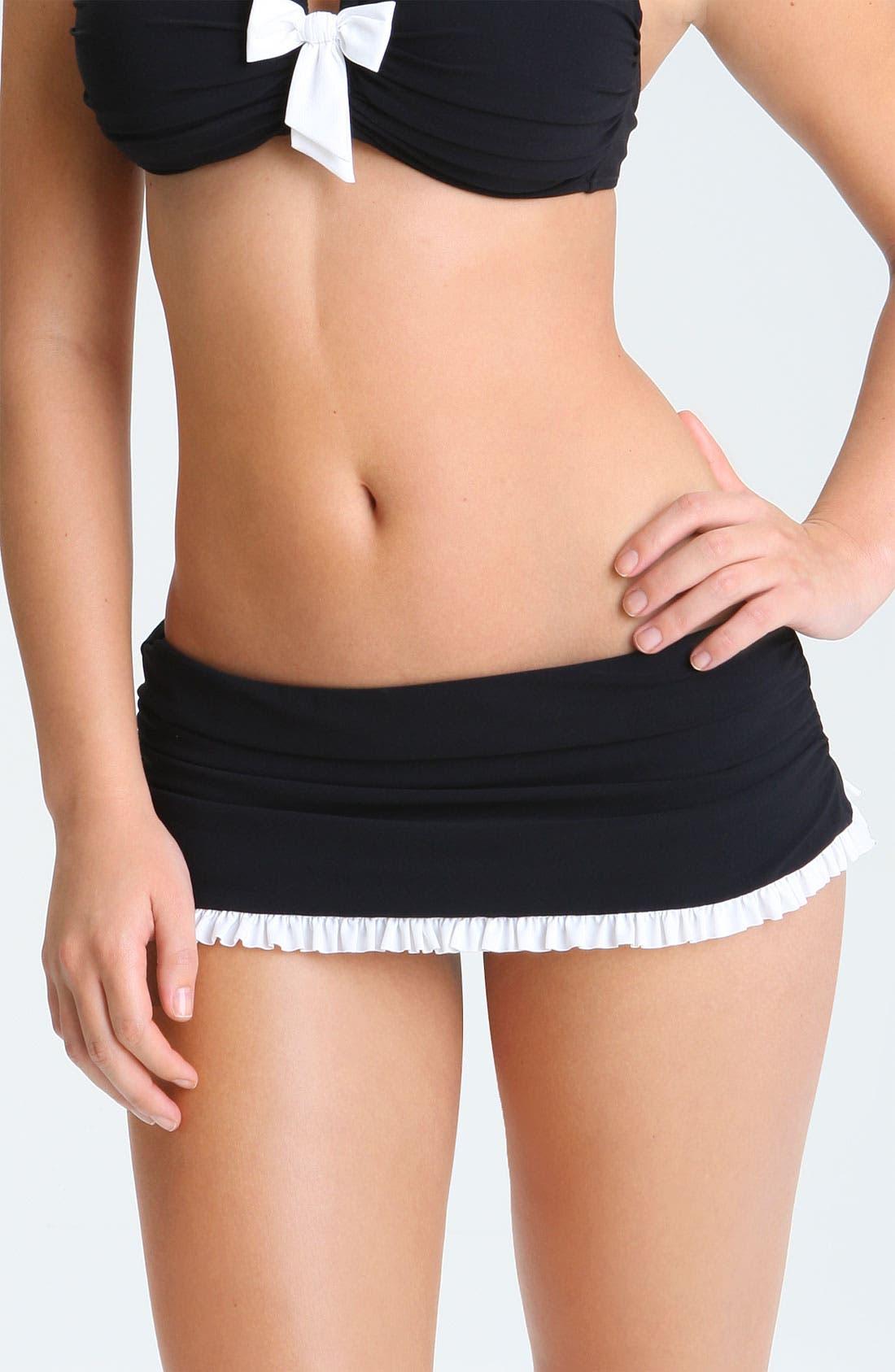 Main Image - Profile by Gottex 'Black Tie' Skirted Bikini Bottoms