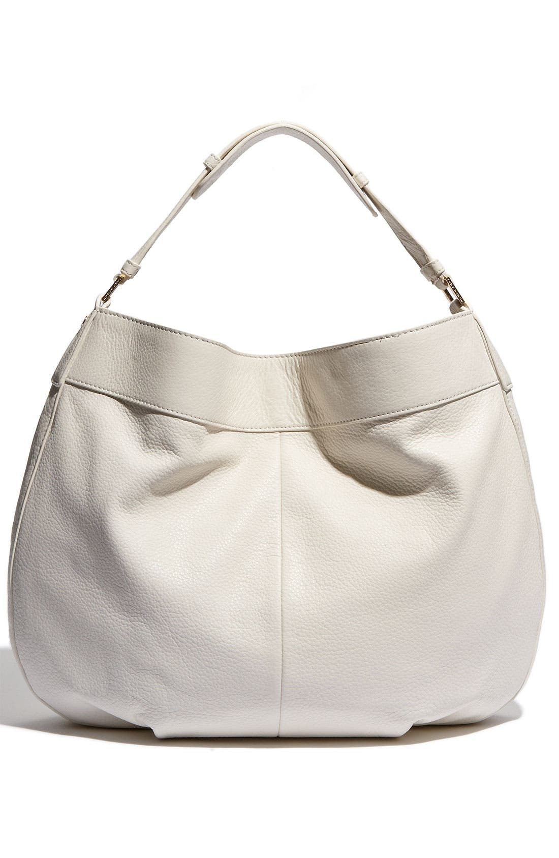 Alternate Image 4  - Tory Burch 'Stacked T Logo' Leather Hobo