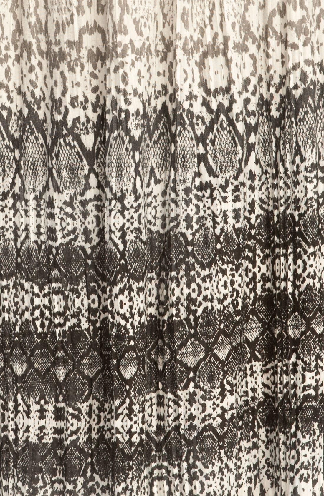 Alternate Image 3  - Kenneth Cole New York Pleated Python Print Max Skirt