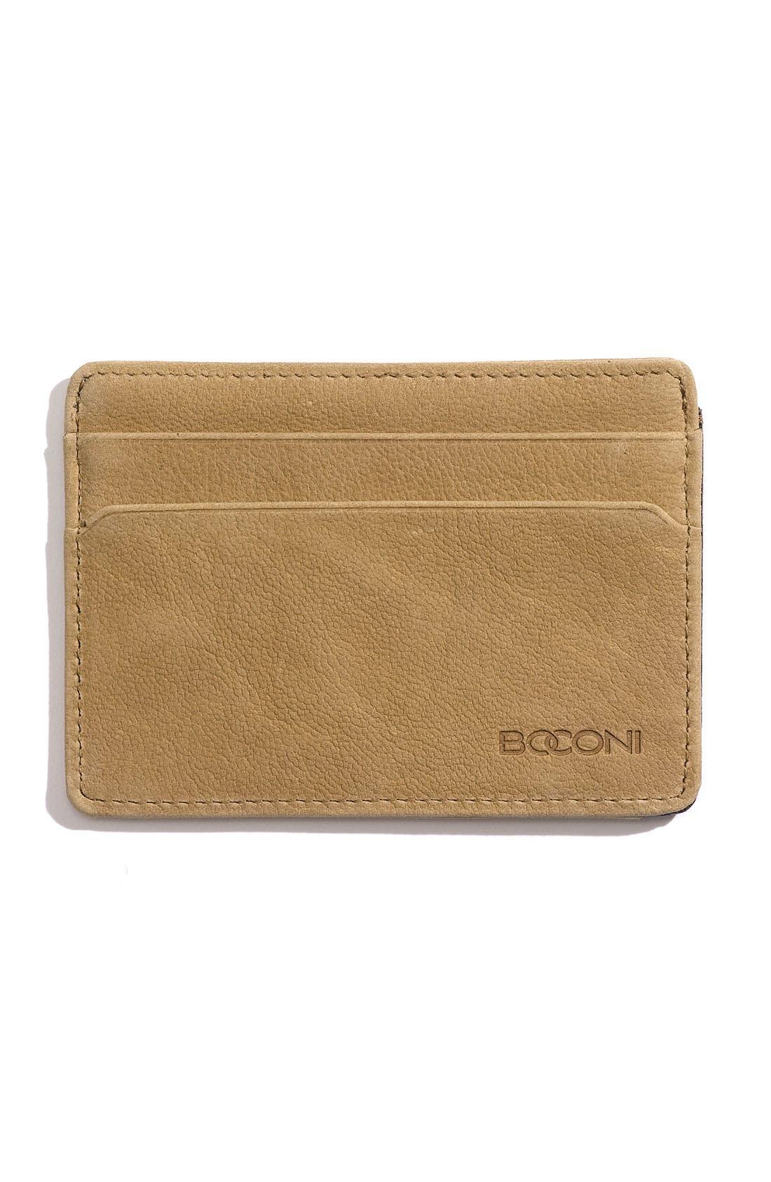 Main Image - Boconi 'Leon' Leather Credit Card Case