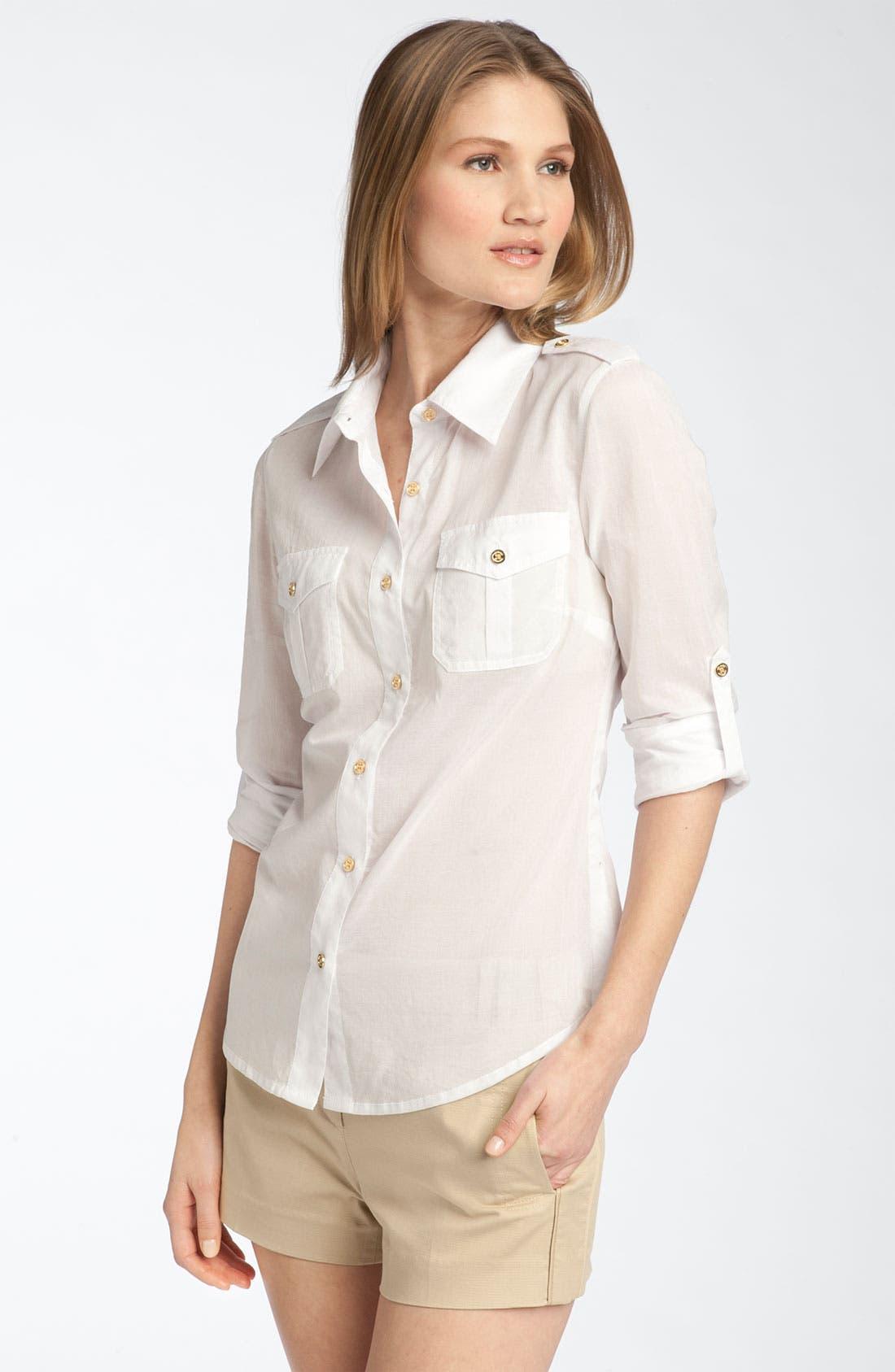 Main Image - Tory Burch 'Brigitte' Military Shirt