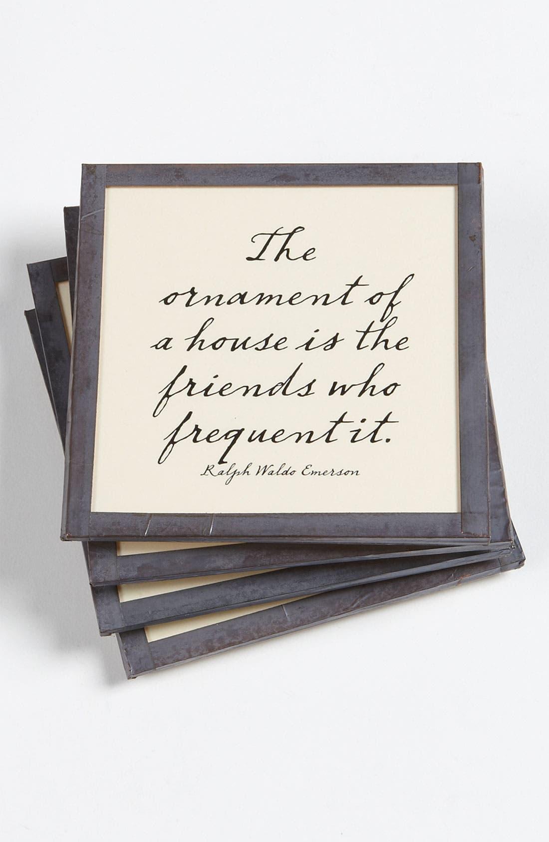 Main Image - Ben's Garden 'The Ornament of a House' Coaster Set