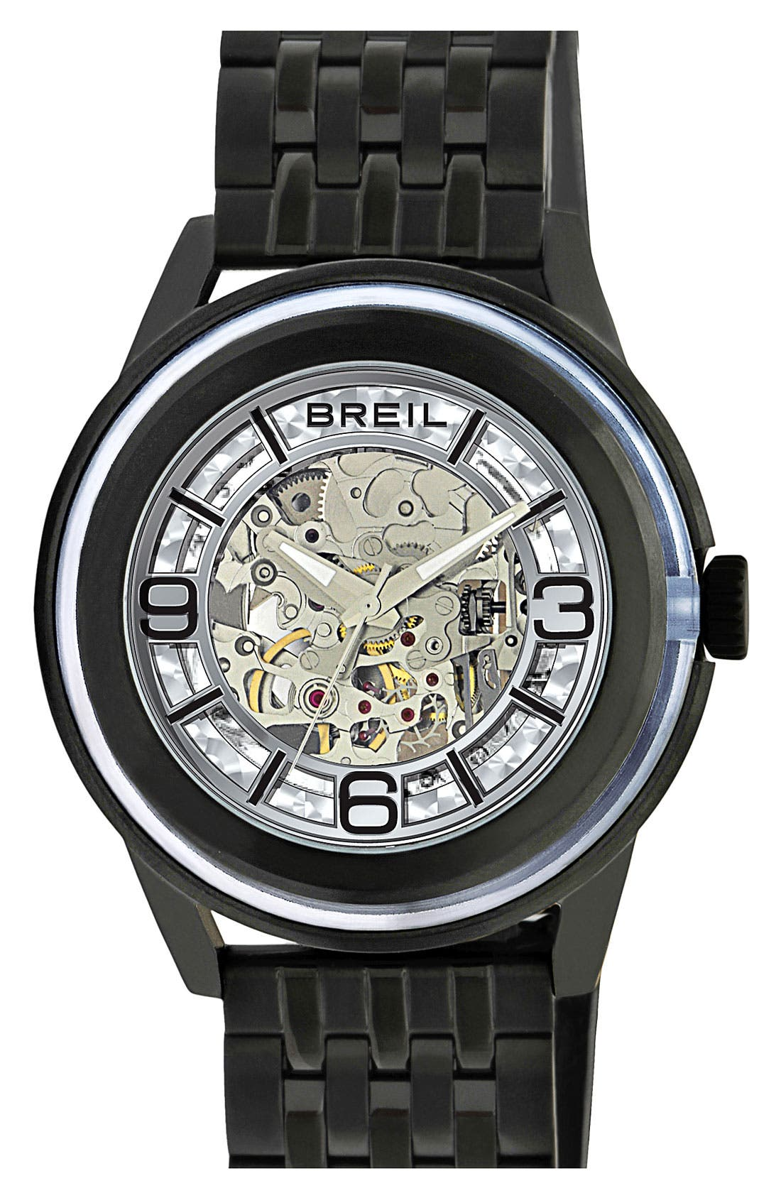 Alternate Image 1 Selected - Breil 'Orchestra' Automatic Bracelet Watch, 45mm