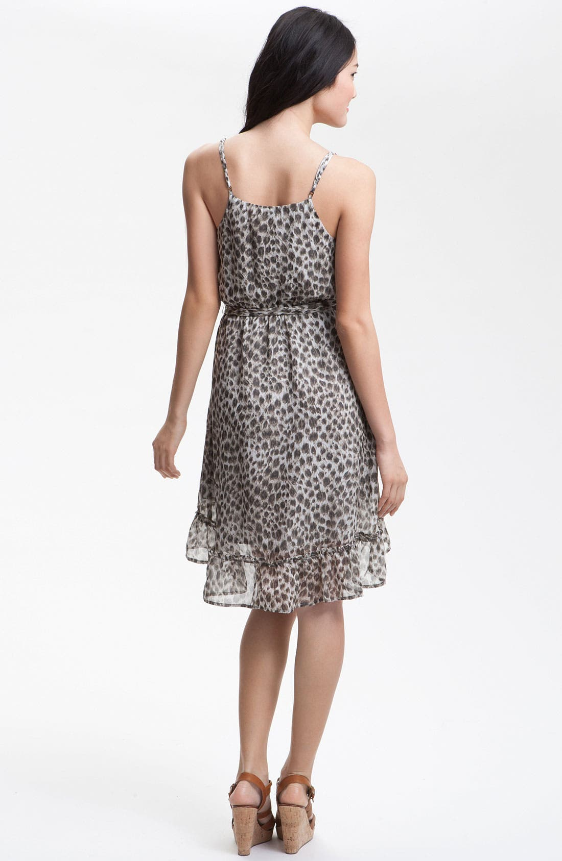 Alternate Image 2  - Charlie Jade 'Danya' Animal Print Silk Dress