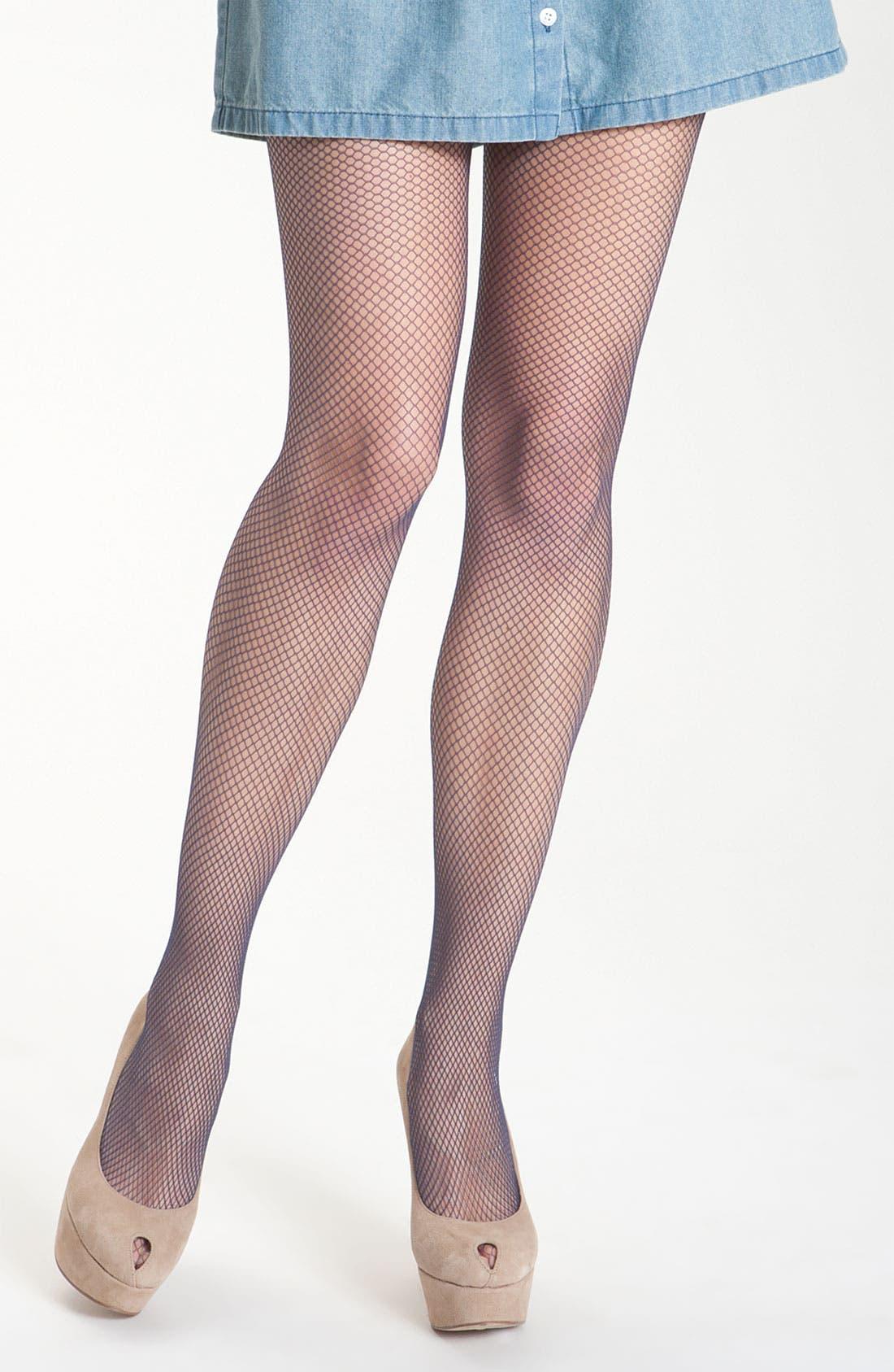 Alternate Image 2  - Pretty Polly Fishnet Stockings (2-Pack)