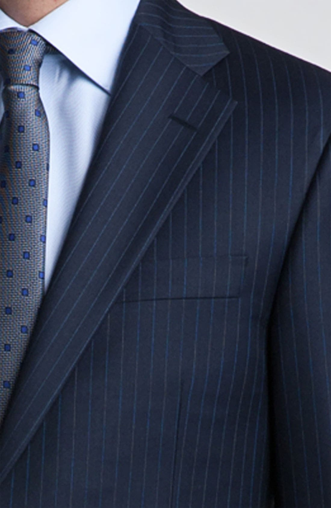 Alternate Image 6  - Hickey Freeman Bead Stripe Wool Suit