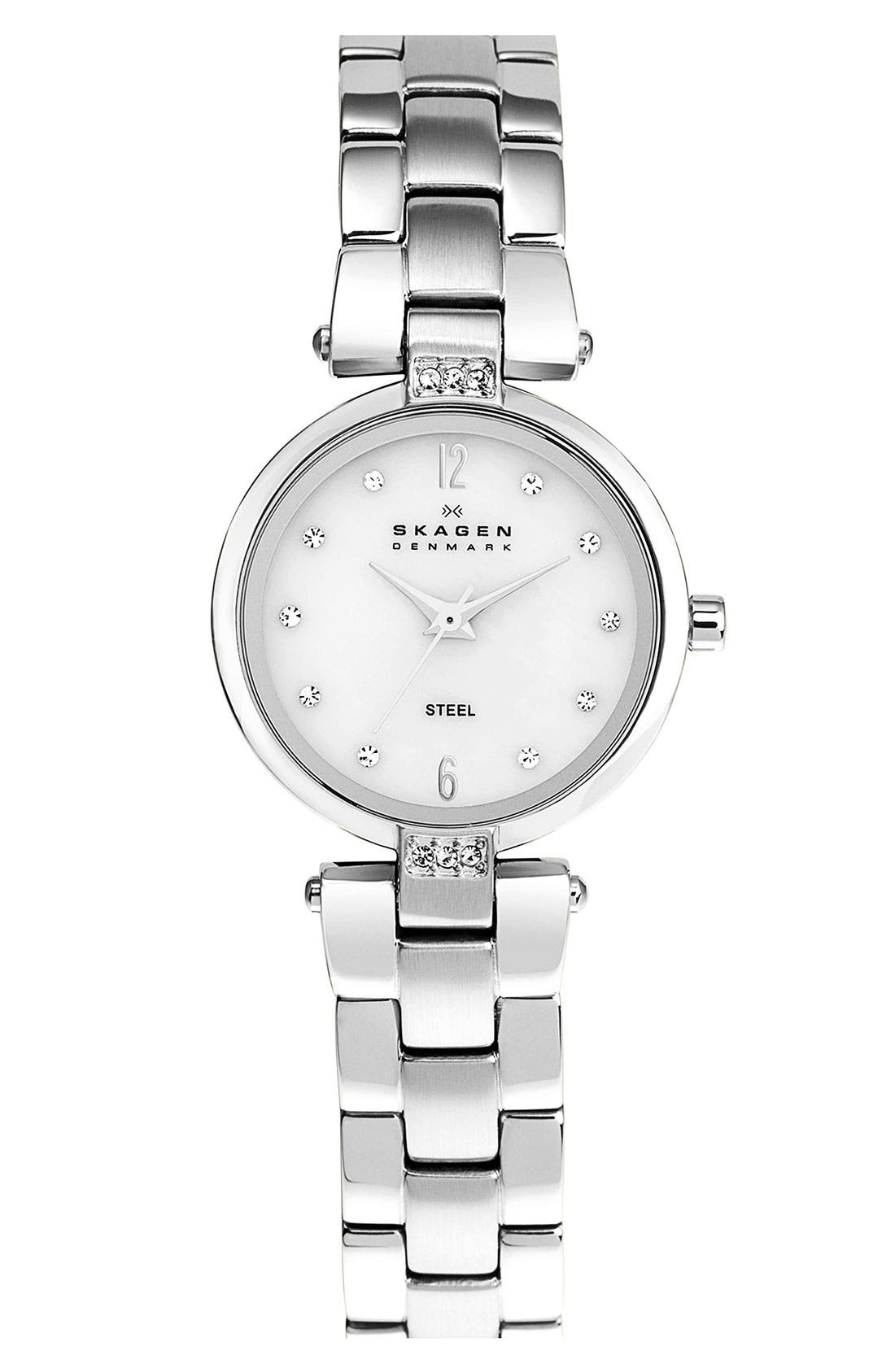 Alternate Image 1 Selected - Skagen Round Dial Bracelet Watch, 25mm