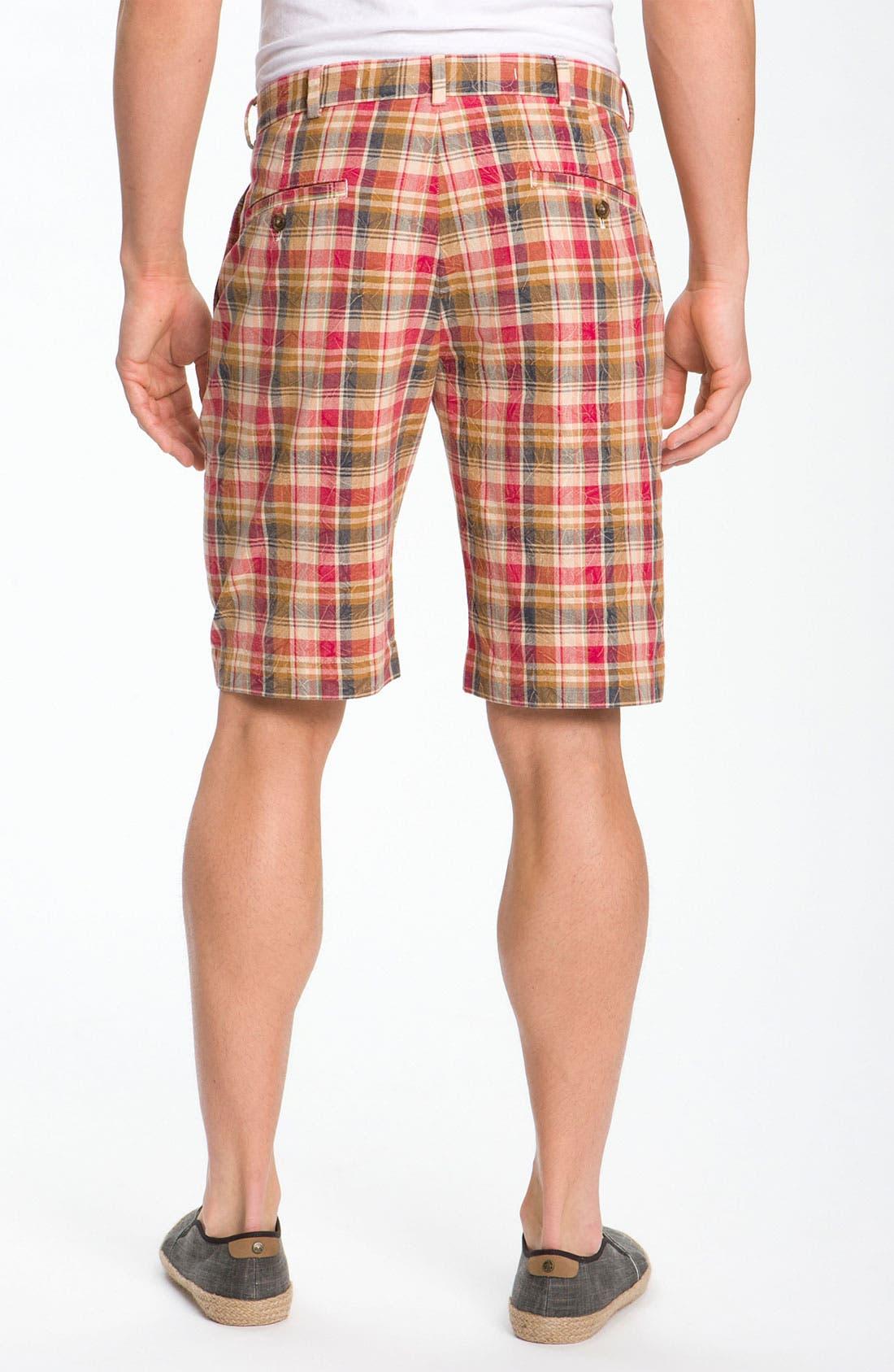 Alternate Image 2  - Brooks Brothers Slim Madras Bermuda Short