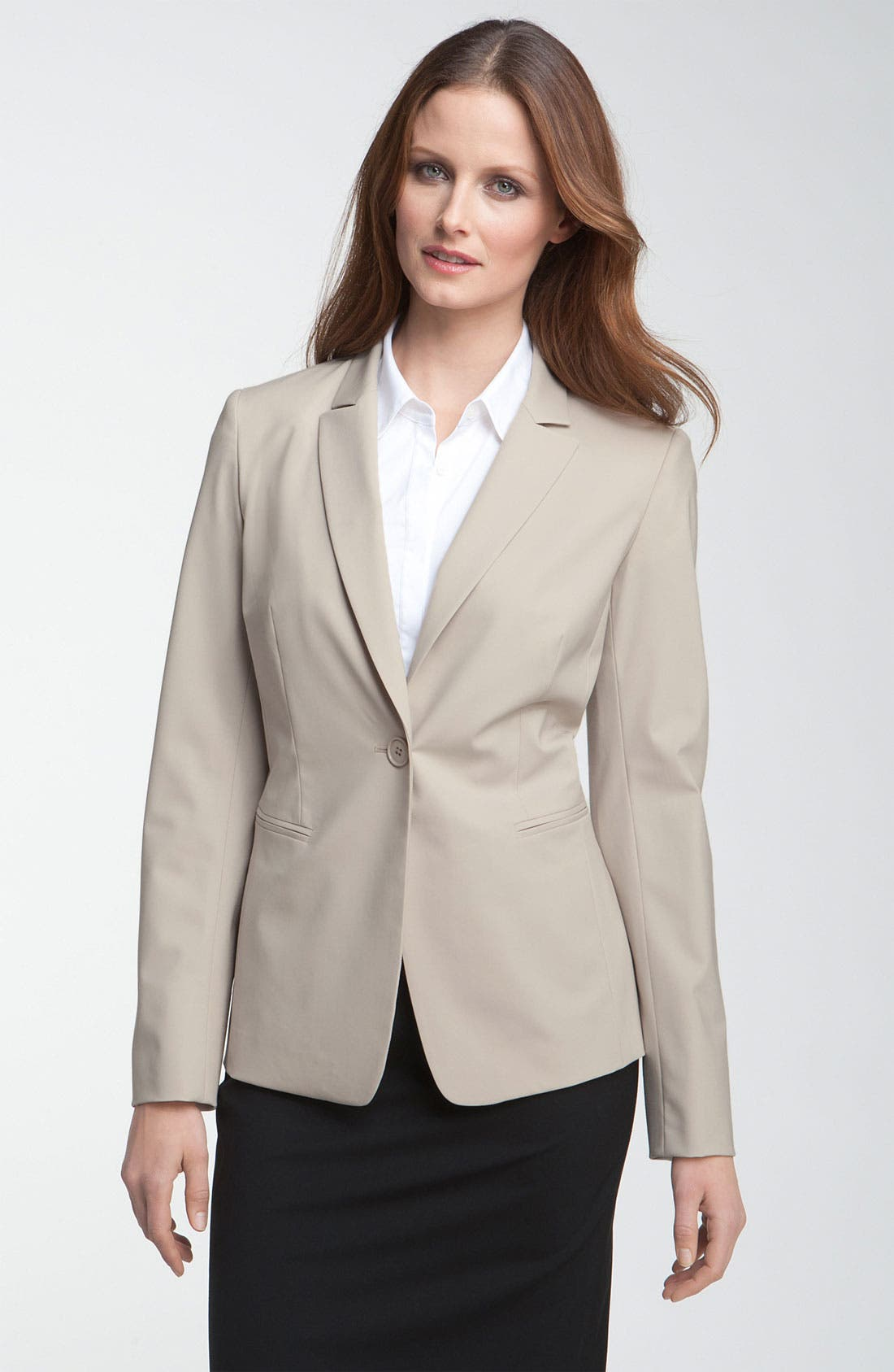 Alternate Image 1 Selected - Lafayette 148 New York 'Ashford' One Button Jacket