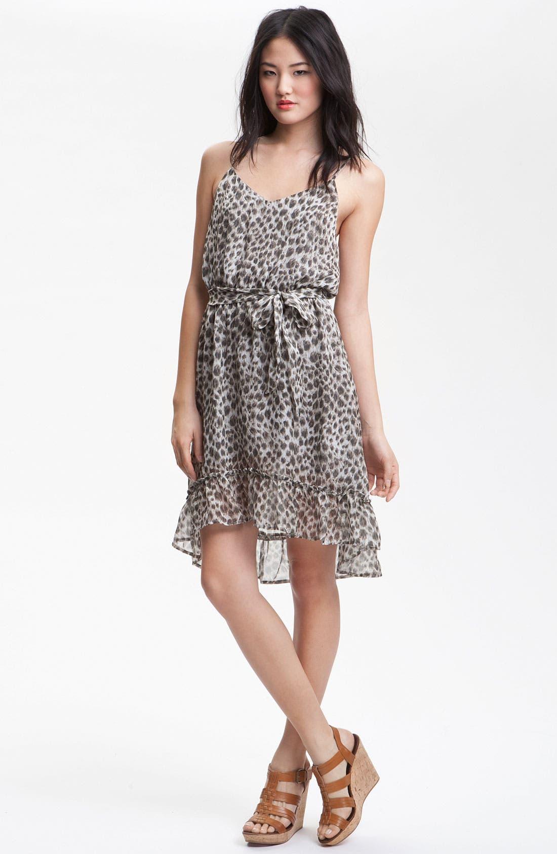 Alternate Image 1 Selected - Charlie Jade 'Danya' Animal Print Silk Dress