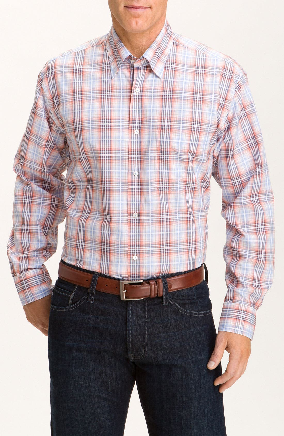 Alternate Image 1 Selected - Robert Talbott Plaid Sport Shirt