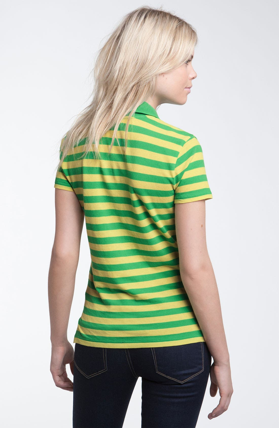 Alternate Image 2  - Stem Stripe Organic Cotton Polo