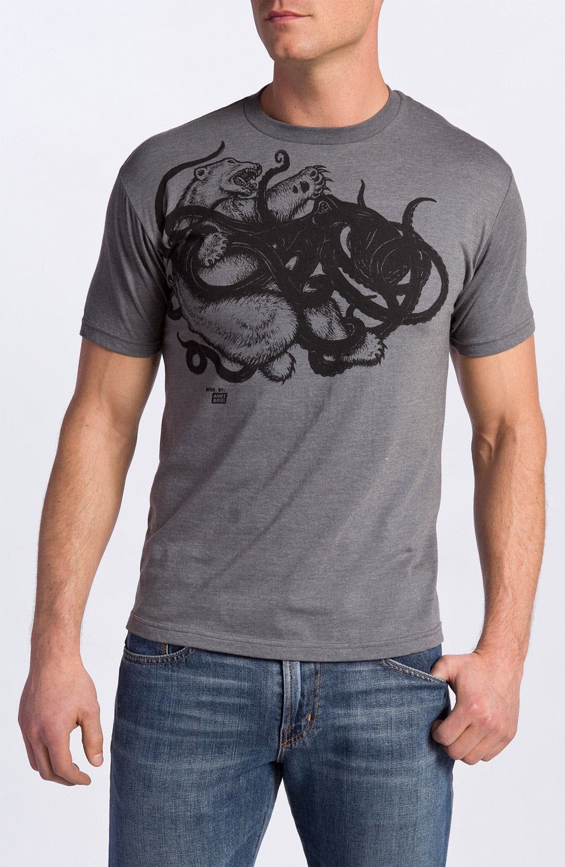 Alternate Image 1 Selected - Ames Bros 'Polar Bear vs. Octopus' Trim Fit Crewneck T-Shirt (Men)