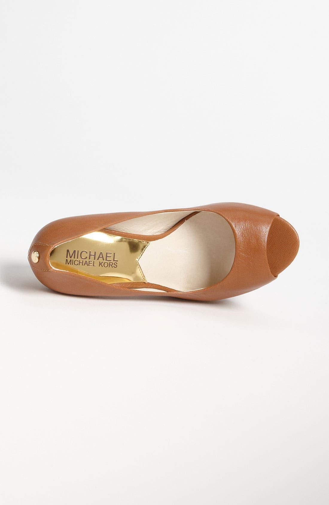 Alternate Image 3  - MICHAEL Michael Kors 'Josie Peep' Pump