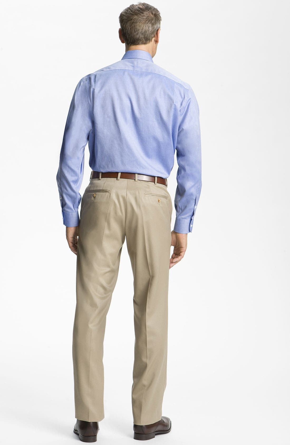 Alternate Image 4  - Nordstrom Men's Shop Smartcare™ Wrinkle Free Traditional Fit Herringbone Dress Shirt