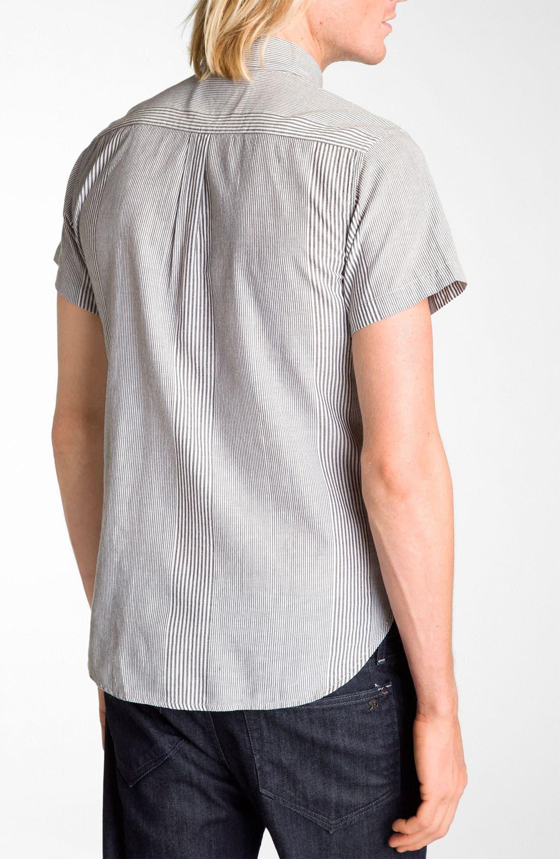 Alternate Image 2  - Obey 'Wayne' Stripe Woven Shirt