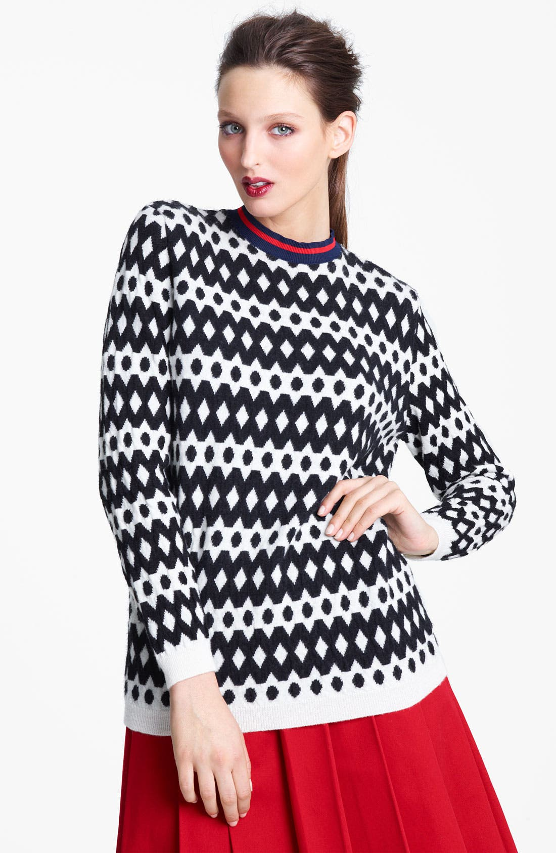 Alternate Image 1 Selected - Marni Edition Diamond Stitch Sweater
