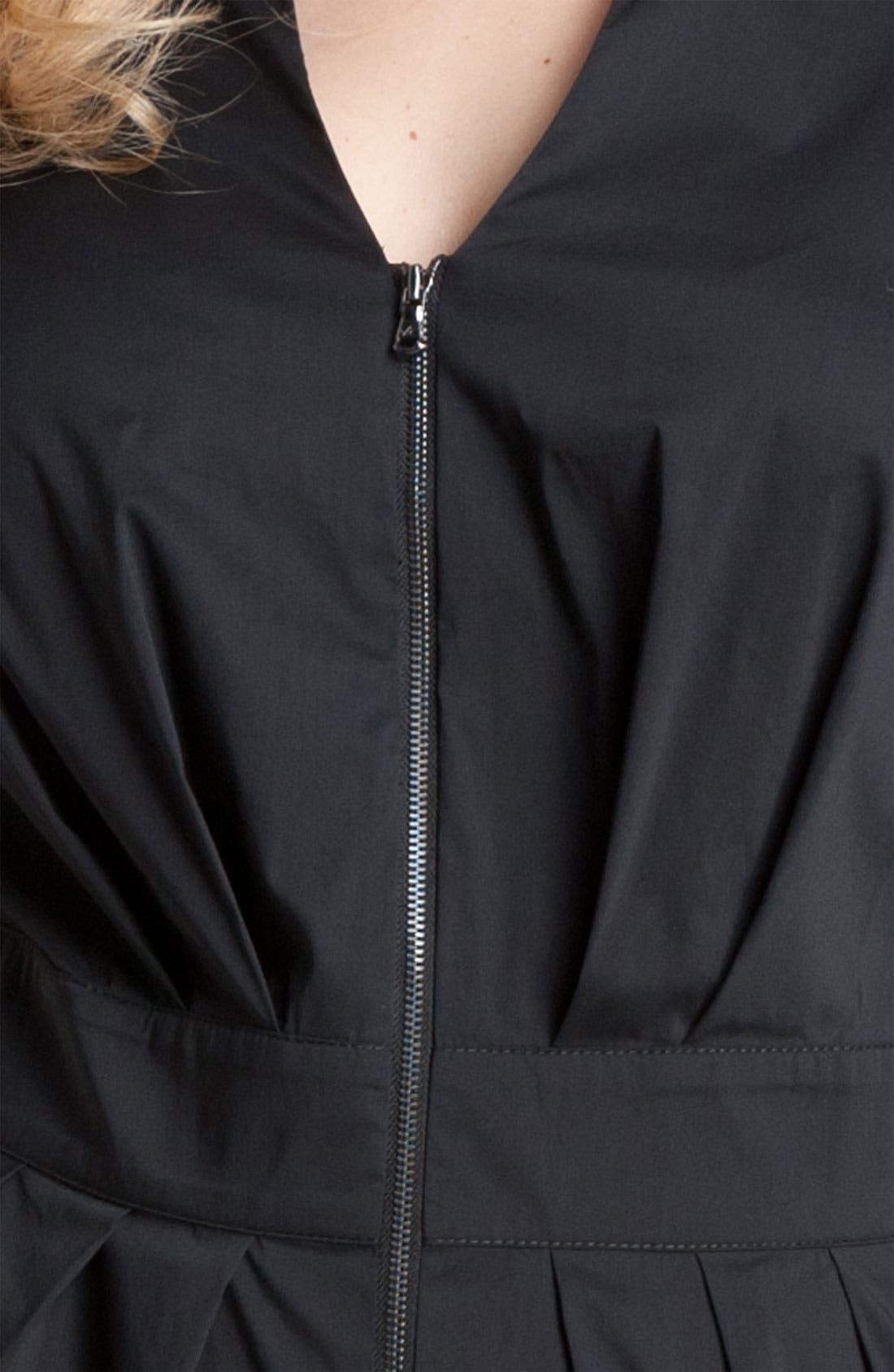 Alternate Image 3  - Kenneth Cole New York Zip Shirtdress (Plus)