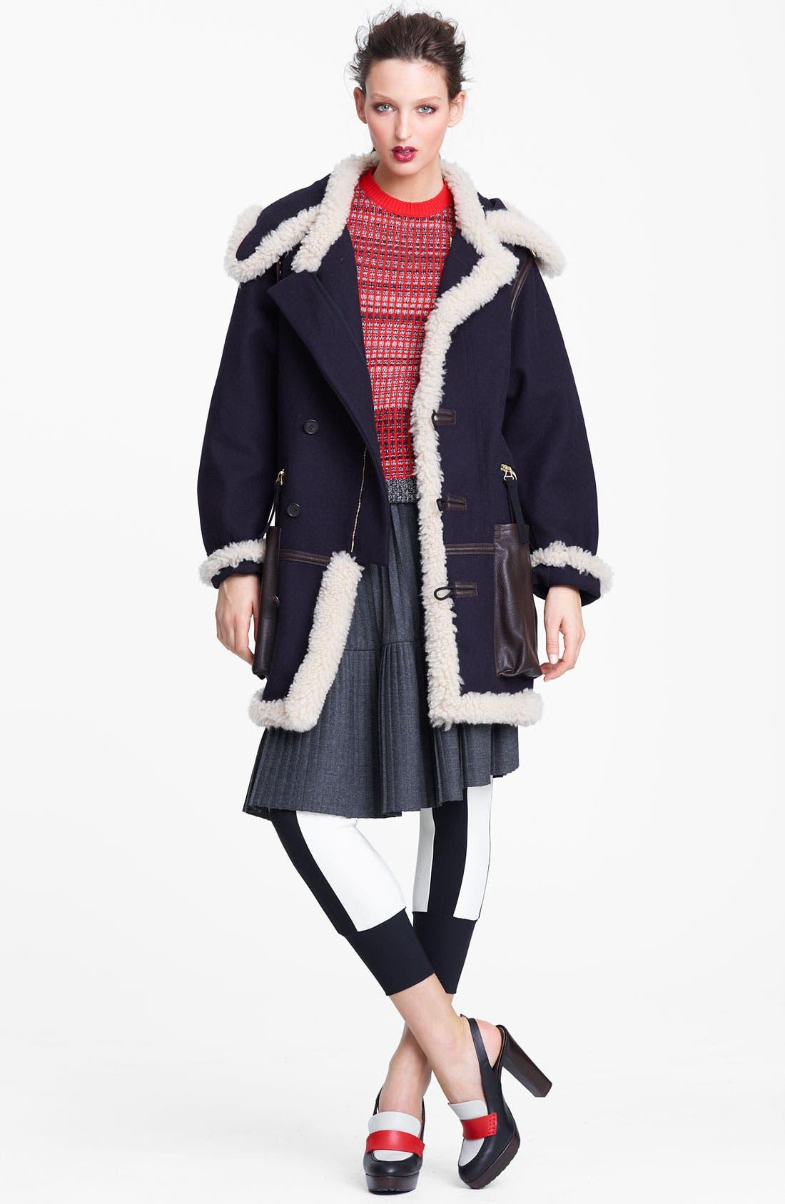 Alternate Image 7  - Marni Edition Pleated Mélange Flannel Skirt