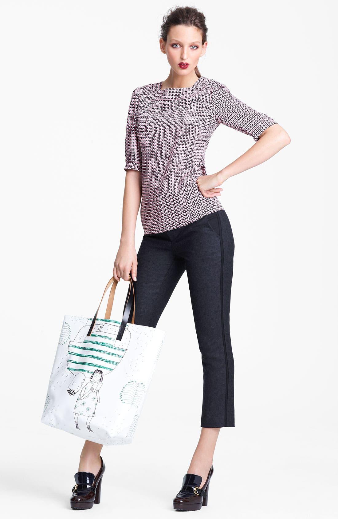 Alternate Image 7  - Marni Edition Crop Straight Leg Flannel Trousers