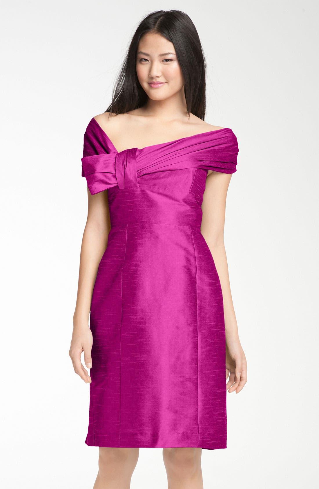 Alternate Image 3  - Anna Elyse Bridesmaids Convertible Shantung Dress
