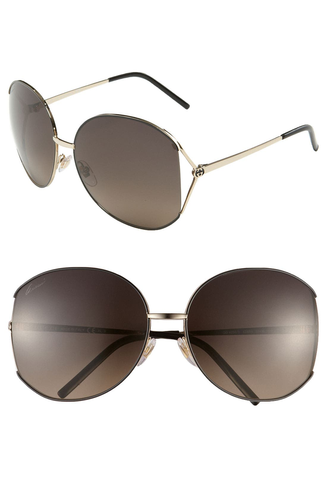 Alternate Image 1 Selected - Gucci 61mm Sunglasses