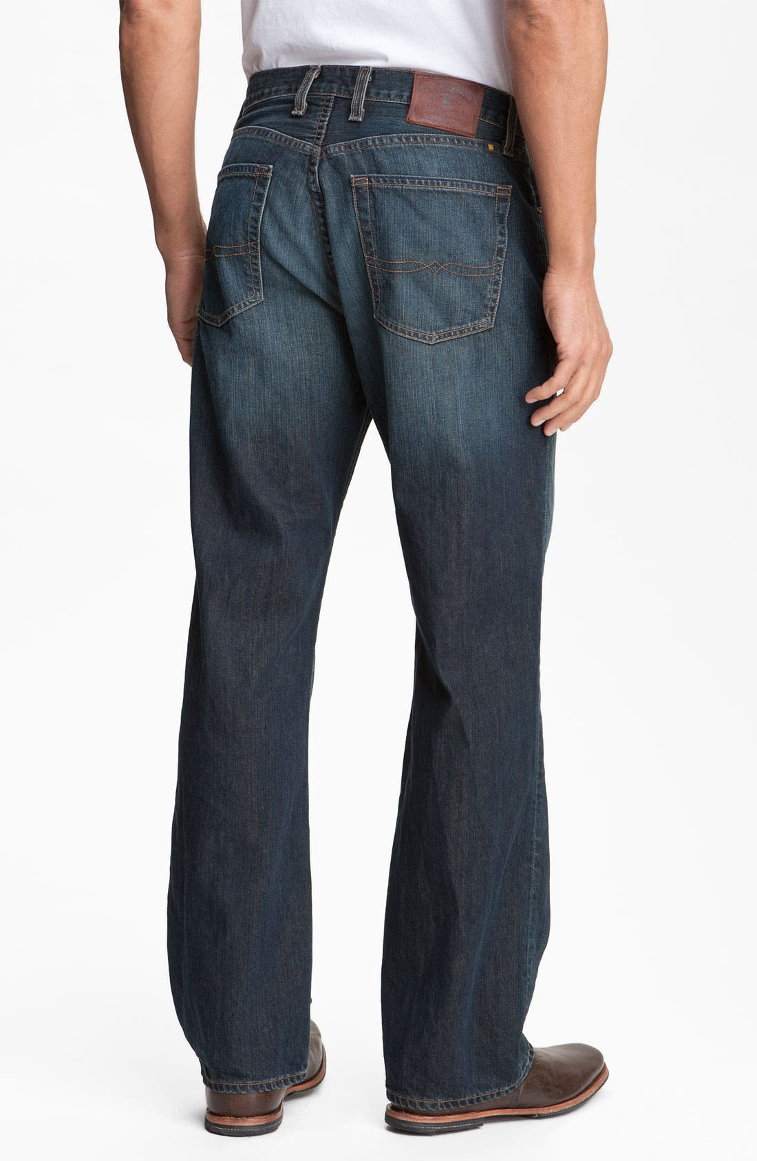 Alternate Image 2  - Lucky Brand Relaxed Straight Leg Jeans (Love Train)(Big & Tall)