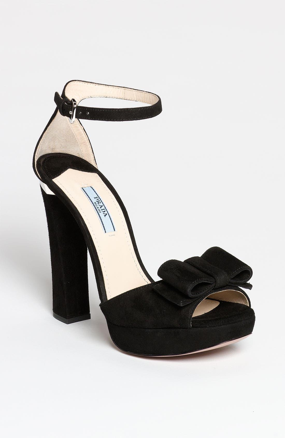 Alternate Image 1 Selected - Prada Bow Ankle Strap Sandal